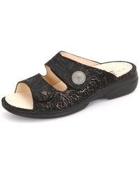 Finn Comfort - Sansibar Anthrazit Branch Women's Mules / Casual Shoes In Black - Lyst