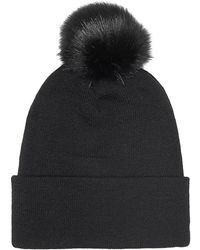 Guess - Aw6452 Wol01 Hat Accessories Black Women's Beanie In Black - Lyst