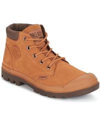 Palladium - Pampa Lo Cuff Sue Women's Mid Boots In Brown - Lyst