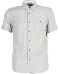 Quiksilver - Waterfalls Men's Short Sleeved Shirt In Grey - Lyst