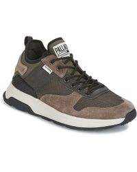 Palladium - Ax_eon Army Runner Men's Shoes (trainers) In Brown - Lyst