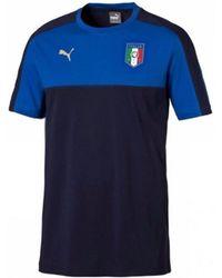 c18e7fd46 PUMA - Italy 2006 Tribute Badge Tee (peacot) Men s T Shirt In Blue -