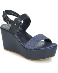 G-Star RAW | Remi Plateau Women's Sandals In Blue | Lyst