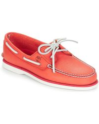 Timberland - Classic Boat 2 Eye PAPRIKA hommes Chaussures en rouge - Lyst
