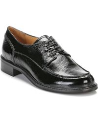 TOWER London - Tower Womens Black Leather Lace Up Shoes Women's Casual Shoes In Black - Lyst