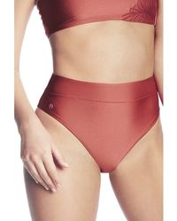 Maaji - , Hig Waisted Bikini Bottom, Red - Sangria Suzy Q Women's In Multicolour - Lyst