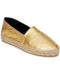 6ff1b4922 KENZO - Tiger Metalic Synthetic Leather Women's Espadrilles / Casual Shoes  In Gold - Lyst