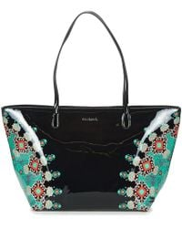 468f1369ddb2 Desigual - Vinil Galactic Capri Zipper Women s Shoulder Bag In Black - Lyst