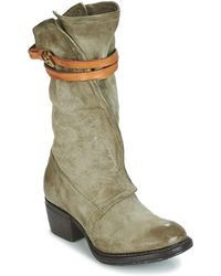 A.S.98 - Corn Women's Mid Boots In Green - Lyst