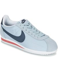 Lyst Nike Classic Instructores Cortez Nylon Hombres Zapatos Instructores Classic En Azul 6e6289