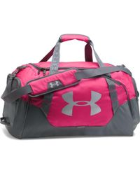 Under Armour - Undeniable 3.0 Medium Duffel Bag - Tropic Pink / Graphite / Silv Women's Travel Bag In Grey - Lyst