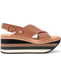 a58b5dcddd1 Paloma Barceló - Paloma Barceló Kyoto Leather Wedge Sandal Women s  Espadrilles   Casual Shoes In Brown