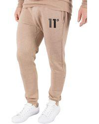 11 Degrees - Men's Logo Joggers, Beige Men's Sportswear In Beige - Lyst