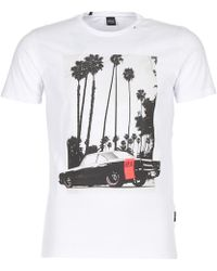 Replay - Ceke Men's T Shirt In White - Lyst