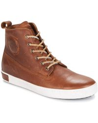 Blackstone - Inch Worker Men's Shoes (high-top Trainers) In Brown - Lyst