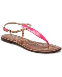 d119be1894f5c Sam Edelman Gigi Women s Sandals In Pink in Pink - Lyst