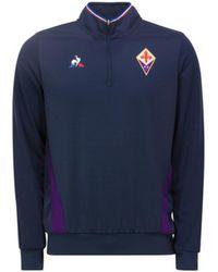 Le Coq Sportif - 2018-2019 Fiorentina Training Sweat (eclipse) Women's Sweatshirt In Blue - Lyst
