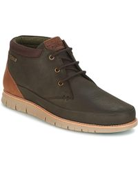 Barbour - Nelson Men's Mid Boots In Brown - Lyst