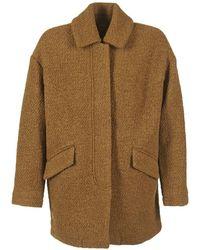 Le Temps Des Cerises - Dinnigan Women's Coat In Brown - Lyst