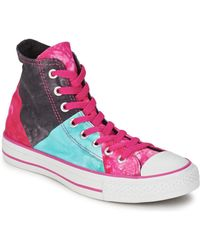 Converse - All Star Multi Panel Tie Dye Hi Women's Flip Flops / Sandals (shoes) In Multicolour - Lyst