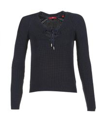 S.oliver - Toubidelle Women's Jumper In Blue - Lyst