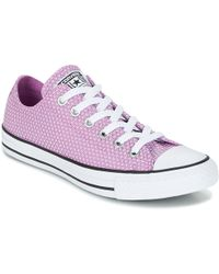 Converse - Chuck Taylor All Star - Ox Women's Shoes (trainers) In Pink - Lyst