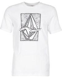 Volcom - Ripstone Men's T Shirt In White - Lyst
