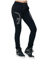 Infinie Passion - Black Sport Trousers 00w060327 Women's Sportswear In Black - Lyst