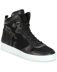 8d939095189b3 Roberto Cavalli Canero Men s Shoes (high-top Trainers) In Black in ...