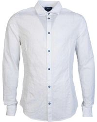 Armani Jeans - Shirt 3y6c24 6n2gz Men's Long Sleeved Shirt In White - Lyst