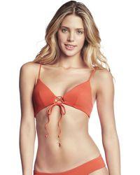 Maaji - , Triangle Bikini Top, Orange - Mandarin Spell Women's In Multicolour - Lyst