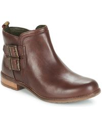 Barbour - Sarah Low Buckle Women's Low Ankle Boots In Brown - Lyst