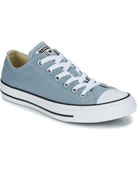 b53b3859e9ac82 Converse - Chuck Taylor All Star Ox Men s Shoes (trainers) In Blue - Lyst