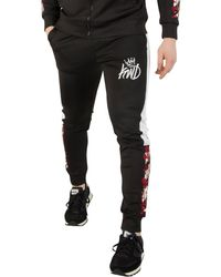 Kings Will Dream - Men's Montross Chevron Floral Track Joggers, Black Men's Sportswear In Black - Lyst