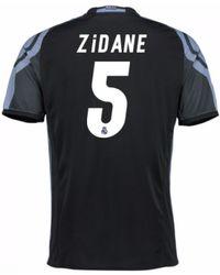 Adidas 2017-18 Real Madrid Away Long Sleeve Shirt (zidane 5) Men s ... 43f260434