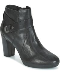 Geox - D Inspiration Plateau Women's Low Ankle Boots In Black - Lyst