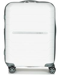 Samsonite - Flux Spinner 55 Men's Hard Suitcase In White - Lyst