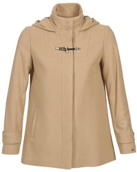Tommy Hilfiger - New Thea City Jkt Women's Coat In Beige - Lyst