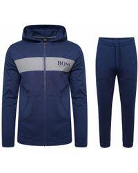 e1e59c42d BOSS - Contemp Loungewear Tracksuit Blue - Lyst