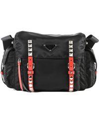 c32ea0030b5e Lyst - Prada City Calf+saffiano Bag W flap in Black
