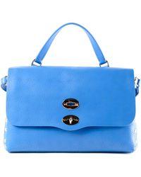 Zanellato Blue Postina M bag - Astro line j6zUIKEQJv