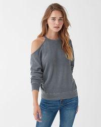 92a662ca32035 Splendid - Vintage Thermal Cold Shoulder Sweatshirt - Lyst