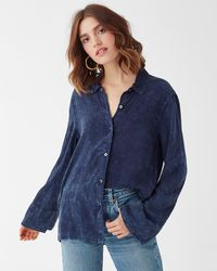 Splendid - Mineral Wash Shirt - Lyst