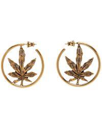 Stella McCartney - Gold Leaf Loop Earrings - Lyst