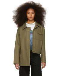 Gosha Rubchinskiy - Green Hybrid Jacket - Lyst
