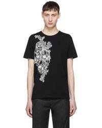 Alexander McQueen - Black Embroidered Skull T-shirt - Lyst