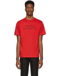 Saturdays NYC - T-shirt rouge Miller Standard - Lyst