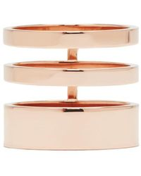Repossi - Rose Gold Triple Band Berbere Ring - Lyst