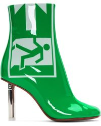 Vetements - Green Patent Exit Lighter Boots - Lyst