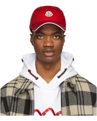 Moncler - Red Berretto Cap - Lyst